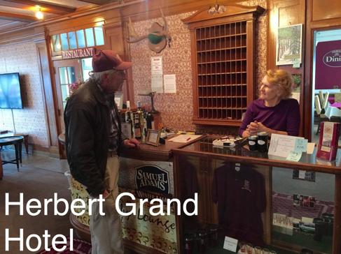 33 - Dad checking in with Dawn at the Herbert Grand Hotel