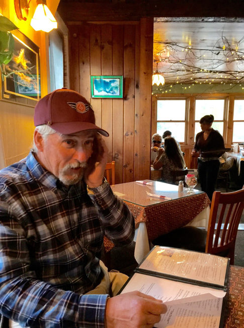 35 - My dad checking in with mom Longfellow's Restaurant