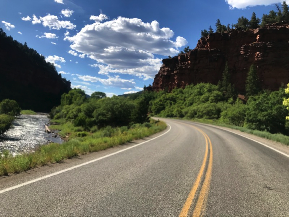 Along CO Route 145 - One of the best motorcycle ride's in Colorado