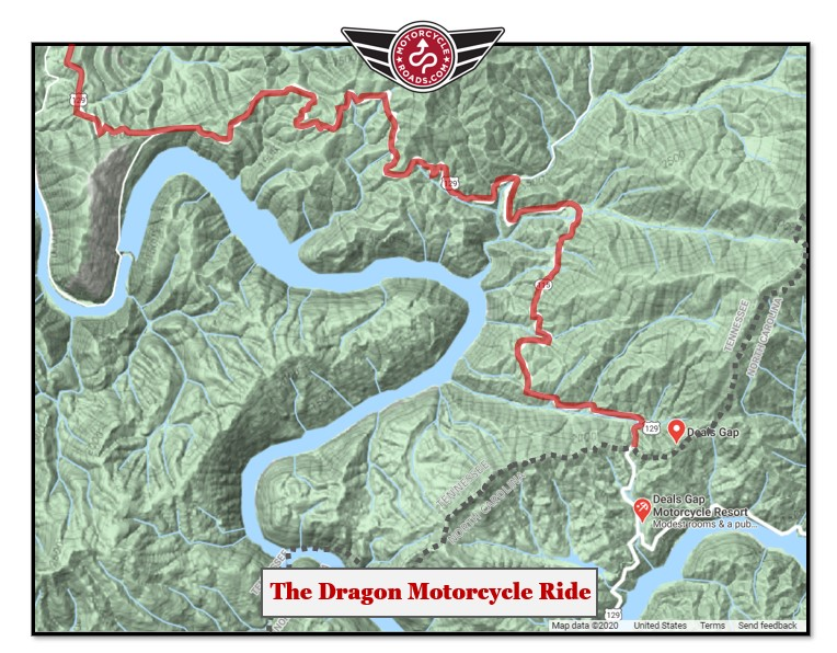 Dragon motorcyle ride map
