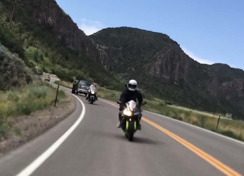 Along ​​CO Route 141 northeast of Driggs Mansion - one of Colorado's best motorcycle rides