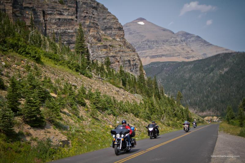 the great going to the sun motorcycle road in montana