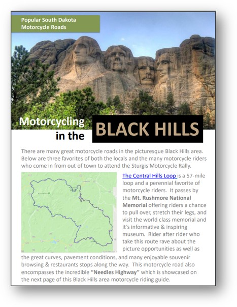 guide to motorcycle rides in black hills south dakota area