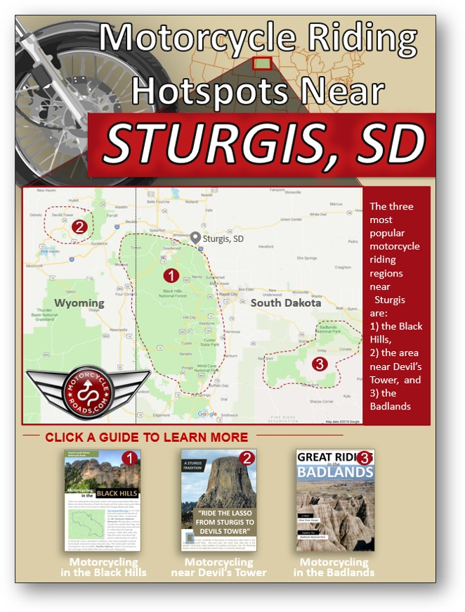 guide to motorcycle riding hotspots near the Sturgis MC Rally