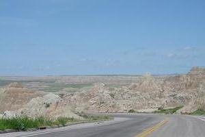 Good Route Through Badlands to a Great Monument