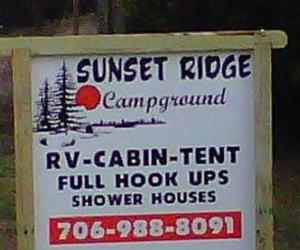Sunset Ridge Campground - All Riders Welcome |  Georgia